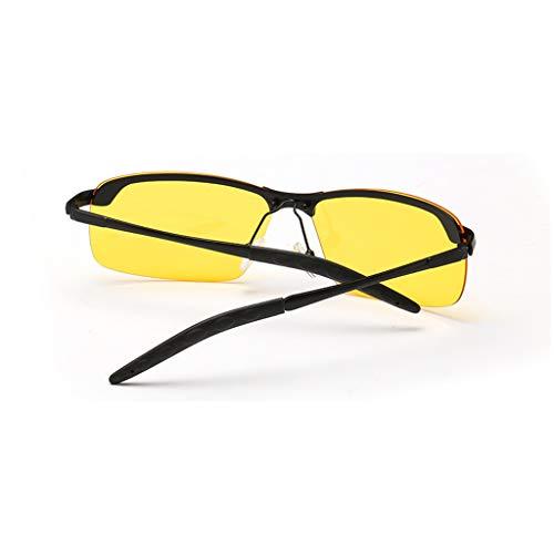 Los del De De Metálico Amarillo Polarizadas de Color Gafas Sol Gafas Hombres Sol Negro Marco TLMY n1F8q8