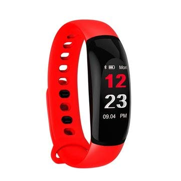 SumoTik U8Plus Color Screen HR Blood Pressure Caller ID Display Fitness Tracker Smart Watch Bracelet - Smart Watch & Band Smart Wristband - (Red) - 1 x USB Hand Dynamo Charger with Light