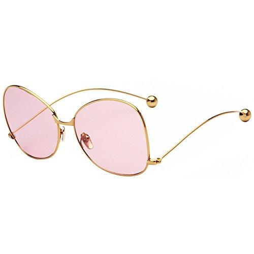 Spectacles 14 Ball Polarisé Mirrored 6cm 9 Eyewear Protection De Xinvision Oversized 14 5 Rose Cadre 1 Uv400 Métal Or Uv Lentille Élégant Steel Lunettes Soleil Mode w7Rqat