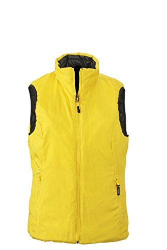 James JN1089 Gilet Padded M Women's Nicholson Yellow Lightweight Vest Black amp; WPFWr6A