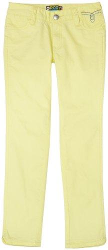Roxy Big Girls' Geek Love Aqua Skinny Fit Stretch Twill Pant,Elfin Yellow,14