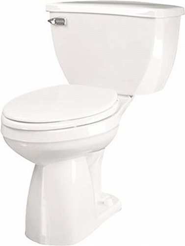 Gerber Ultra Flush Elongated Siphon Jet Toilet Bowl, White, 17 in, 1.6 Gpf ()