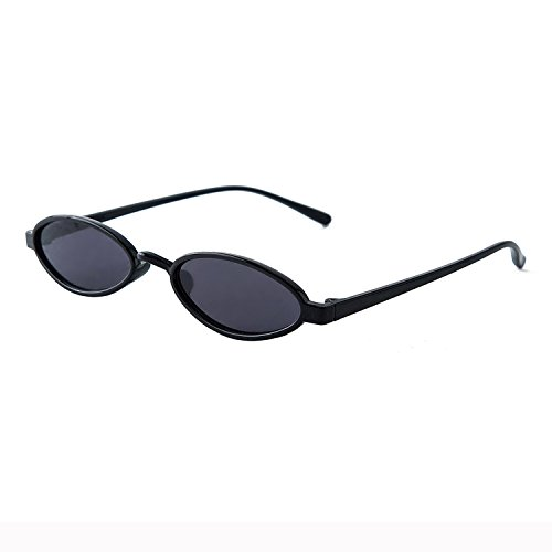 small round frame sunglasses kitten eyes sunglasses,Bright black ()