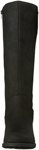 Hush Puppies Women's Polished Overton Riding Boot, Black, US Black Leather