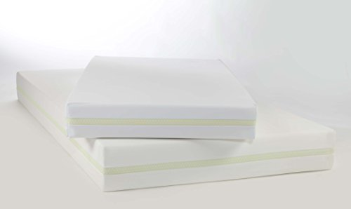Moonlight Slumber Little Dreamer Deluxe Dual Firmness Foam Mattress (Twin) - Water Resistant, Hypoallergenic, and Antimicrobial Twin Size All Foam Mattress with Removable Washable Cover