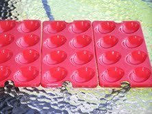 Tupperware Deviled Egg Eggs Trays RED by ()