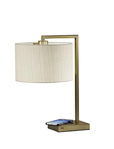 - Adesso 4123-21 Austin Table Lam WirelessCharging, 7W LED, 5W QI,USB Port, Indoor Lighting Lamps