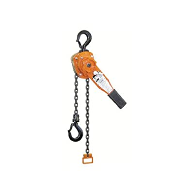 "CM Series 653 Steel Chain Lever Hoist, 16.25"" Lever, 1-1/2 ton Capacity, 20' Lift Height"