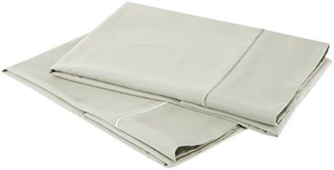 100/% Cotton Sateen Standard Pillowcase Set; Plum Affluence 1000-Thread-Count