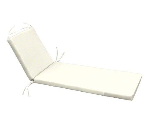 80'' x 25.5'' x 3'' Sunbrella Chaise Cushion (Sunbrella Natural) by Cushion Source