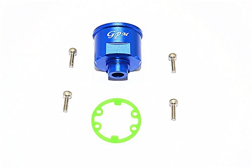 Revo Gpm Rear - GPM Traxxas E-Revo Brushless (56087-1) Upgrade Parts Aluminium Front/Rear Differential Carrier - 1Pc Set Blue