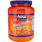Now Foods Whey Protein Isolate - Cookies & Creme - 1.8 lbs. 3 Pack