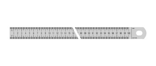 Metrica 25112 Stainless steel rule chromed 500x30x1mm