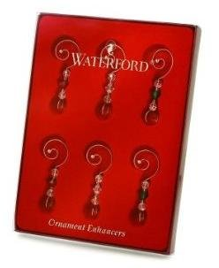 Waterford Christmas Ornament Enhancers, Set of 6 Waterford Christmas Tree
