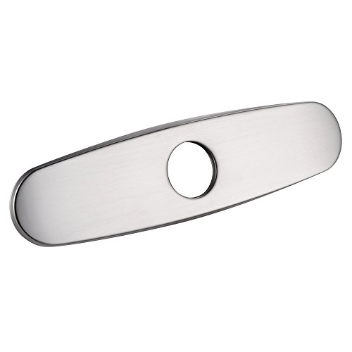 KES PEP1 10Inch Kitchen Sink Faucet Hole Cover Deck Plate Escutcheon Brushed Nickel (Deck Nickel Plate)