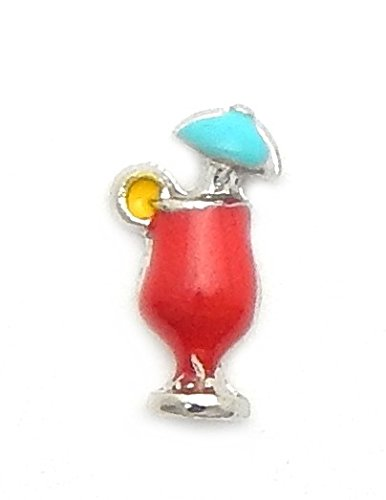 Cherityne Red Tropical Fruit Punch Drink Floating Charm for Locket Pendants
