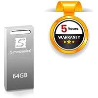 Simmtronics 64 GB USB Flash Drive with Metal Body, 5 Years Warranty