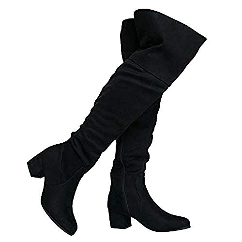 J. Adams Brandy Over The Knee Boot - Trendy Low Block Heel Suede Thigh High