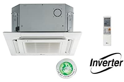 LG LMCN125HV Ductless Air Conditioning, Mini Split Ceiling Cassette Air Handler - 12,000 BTU