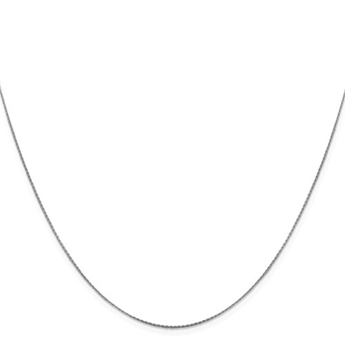 Chain Boston Link (Lex & Lu Leslie's 14k White Gold Boston Link Chain Necklace-Prime)