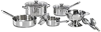 WearEver A834S9 Cook And Strain Stainless Steel Cookware Set, 10-Piece, SilverGY#583-4 6-DFG276142