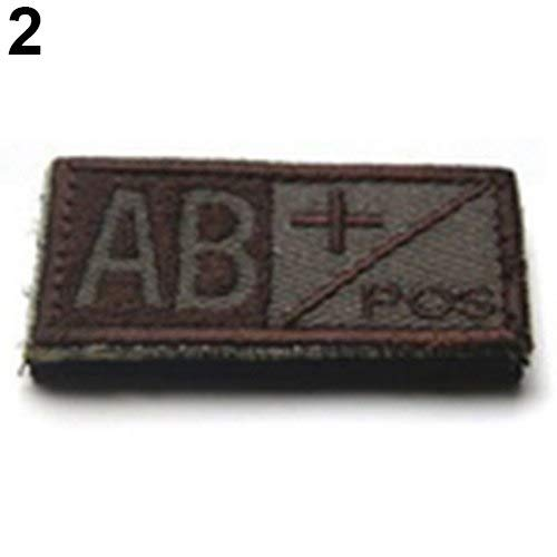Medic Armband - Military Tactics Blood Types Embroidered Self Adhesive Medical Armband - Tactical Medic Military Armband Fabric Glue Blood Military Medic Patch Adhesive Cloth Tactic Type T ()