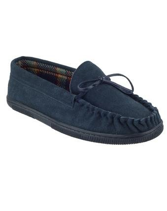 New Mirak Alberta Wildleder Slipper Leder Made Gents Classic Casual Hausschuhe Dunkelblau