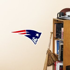 NFL New England Patriots Logo Fathead Wall Decal, 15 x 12-inches