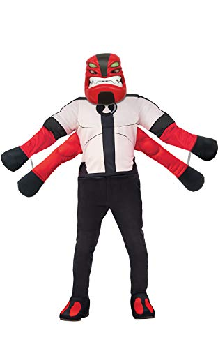 Ben Ten Costume (Rubie's Ben 10 Child's Deluxe Four Arms Costume,)