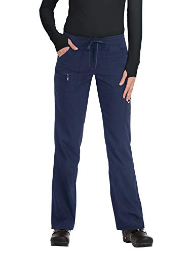 KOI Lite Women's Peace Drawstring Scrub Pant Large Navy