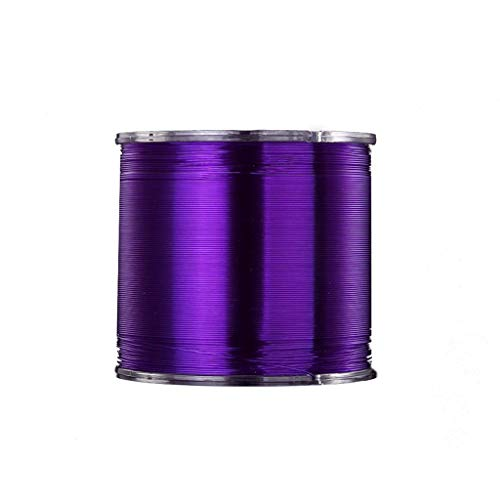 Fishing Line Nylon Line Super Sea Fishing Line 500M Reel Monofilament Line Fishing Line Lake Marine Fishing Line (Color : Purple, Size : 7#)