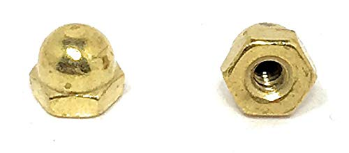 6-32 Acorn Cap Nuts Solid Brass (25 Pieces)