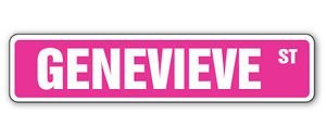 Accessory Genevieve - GENEVIEVE Street Sticker Sign kids room childrens name gift kid child boy girl wall - Sticker Graphic Personalized Custom Sticker Graphic