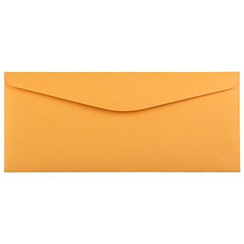 JAM PAPER #11 Recycled Envelopes - 4 1/2 x 10 3/8 - Brown Kraft Manila - 50/Pack ()