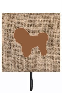UPC 705332236218, Caroline's Treasures BB1107-BL-BN-SH4 Bichon Frise Burlap and Brown Leash or Key Holder Bb1107, Small, Multicolor