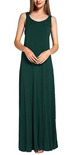 GoCo Urban Femme Tunique Vert Soire Ete sans Fonc de Maxi Casual Robe Manches Longue Robe Fluide Plage rddZT5wqAx