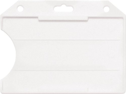 1840-8110 Clear Rigid Plastic Horizontal Badge Holder (10...