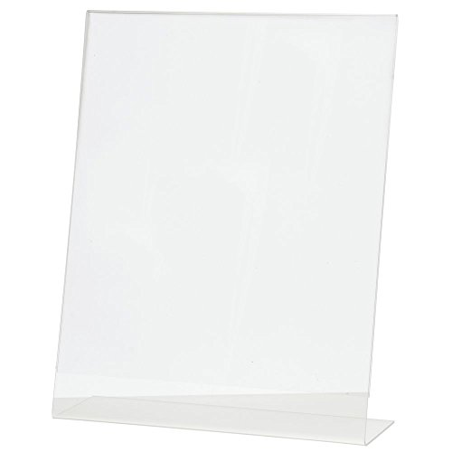 Stant Back Acrylic Sign Holder Clear Acrylic Vertical Picture Frame Ad Frame - 11''L x 14''H by Hubert