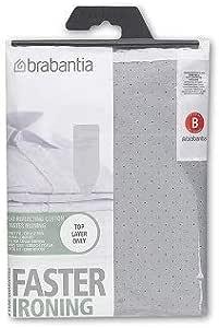 "Brabantia Ironing Board Cover, 49"" x 15"" (Size B, Standard), Grey"