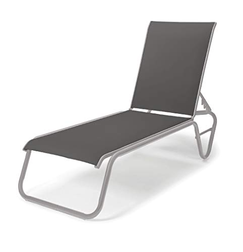 Telescope Casual Furniture 808593004 Gardenella Lay Flat Armless Outdoor, Chaise Lounge, Gloss - Gloss Chaise