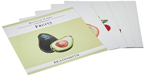 (Brainsmith Quantum Cards - Fruits Set 1 - Encyclopaedic Flashcards - Early Learning - Sensory Development - Birthday Gift (For children from 8 months and above - Brain Development) )