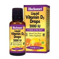 Vitamin D3 Liquid Drops 2000 Iu - 1 Oz -(3 Pack) by Blue Bonnet