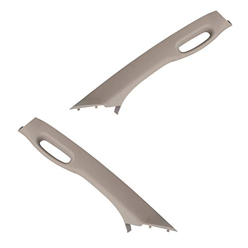 BROCK Pair Set Inside Beige A Pillar Trim Panels w/Pull Grab Handles Replacement for 02-05 Dodge Ram Pickup Truck 1TE75TL2AA 1TE74TL2AA