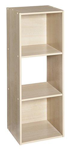 ClosetMaid 4175 Cubeicals Organizer, 3-Cube, Birch 3 Shelf Closet Organizer