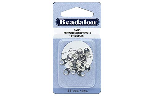 (Beadalon Tag Wide Oval Silver, Plated, 15-Piece)