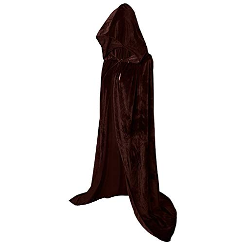 Masquerade Costumes Halloween Adventure (Unisex Casual Halloween Cloak Masquerade Party Blouse Pure Color Tops Pullover)