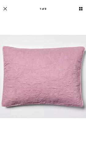 Opalhouse Blush Medallion Stitched Pillow Sham Standard 20