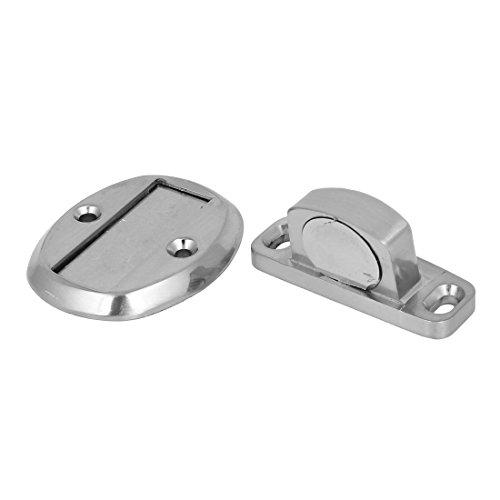 DealMux Início Pavimento magnético liga de zinco Door Stop Stopper Titular Captura tom de prata