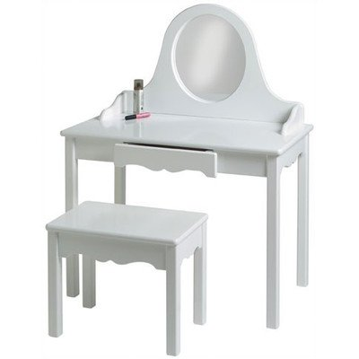 Little Colorado Vanity and Bench Set, Solid White by Little Colorado