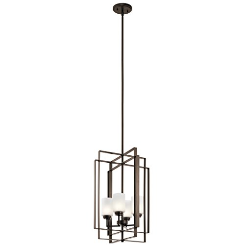 Kichler 44008MIZ Harvey 4-Light Foyer Pendant, Mission Bronze - Harvey Light